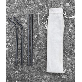 Black Metal Straws