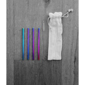 Rainbow Cocktail Straws