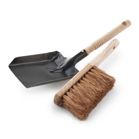 Metal Dust Pan and Wooden...