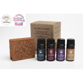 Clay Aromatherapy Diffuser and Blends of Essential Oils ''Four Elements''