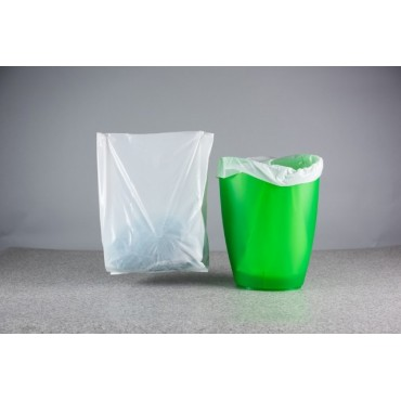 "Biodegradable Pedal Bin Liner 11x17"" wide x 18"" long x 100g"
