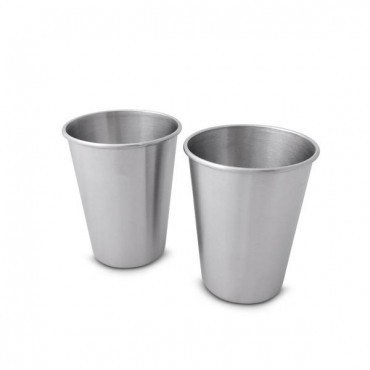 350ml Stainless steel cup - 2 pack
