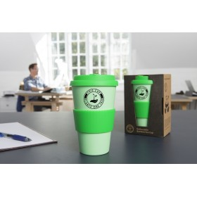 GoReusable Bamboo Eco Coffee Cup/Travel Mug (Green)