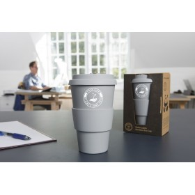 GoReusable Bamboo Eco Coffee Cup/Travel Mug (Grey)