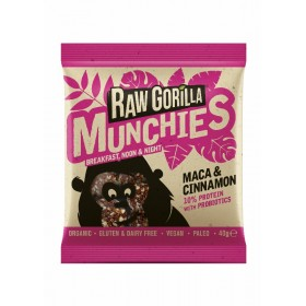 Raw Gorilla Maca and Cinnamon Munchies 10x40g
