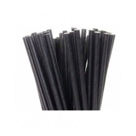 Black Paper Straws 200MM X 6MM