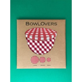 Gingham cotton bowl covers
